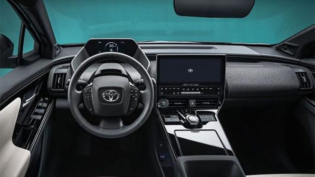 Interior Mobil konsep Toyota bZ4X (dok. Toyota)