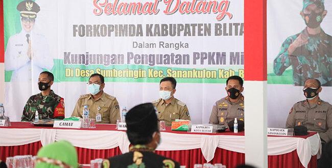 Wakil Bupati Blitar, Berharap Penanganan Covid-19 Lebih Efektif dengan Penerapan PPKM Tingkat RT